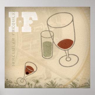 wenn. Drei Cocktails Posterdrucke