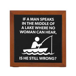 Wenn ein Mann in einem See - Fischen, lustige Stifthalter