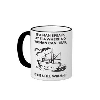 Wenn ein Mann in Meer spricht, in dem keine Frau Haferl