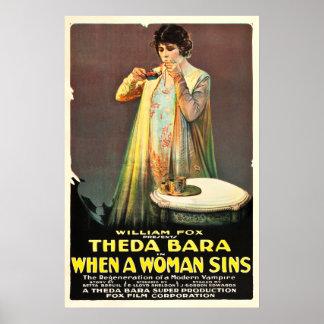 Wenn eine Frau Sins Filmplakat (1918) Poster