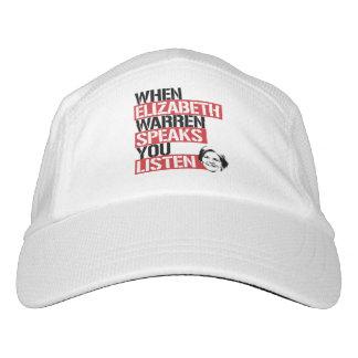 Wenn Elizabeth Waren spricht, hören Sie -- Headsweats Kappe