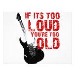 Wenn es Ihr zu altes zu laut ist! Ankündigungskarte