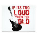 Wenn es Ihr zu altes zu laut ist! 10,8 X 14 Cm Einladungskarte