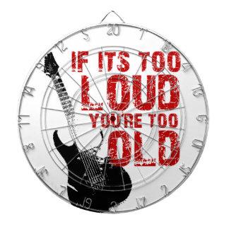 Wenn es zu laut ist, sind Sie zu alt! Dartscheiben
