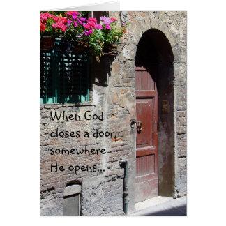 Wenn Gott eine Tür-Karte schließt Karte