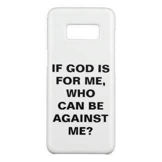 """""""Wenn Gott ist für mich…"""" Kasten Case-Mate Samsung Galaxy S8 Hülle"""