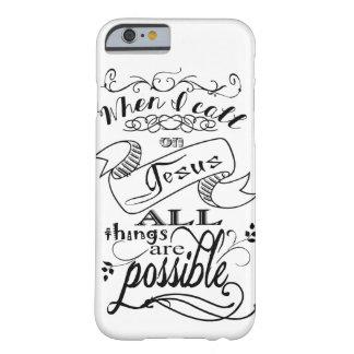 Wenn ich auf Jesus-Handyabdeckung nenne Barely There iPhone 6 Hülle