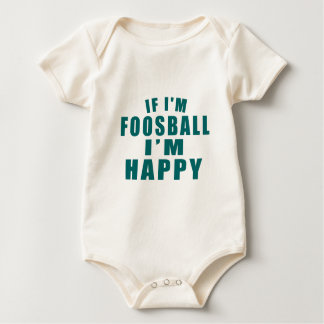 WENN ich FOOSBALL bin, das ich GLÜCKLICH bin Baby Strampler