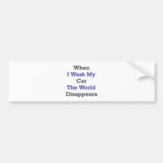 Wenn ich mein Auto wasche, verschwindet die Welt Autoaufkleber
