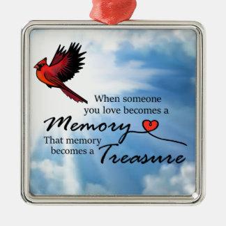 Wenn jemand Sie Liebe, Kardinal Silbernes Ornament