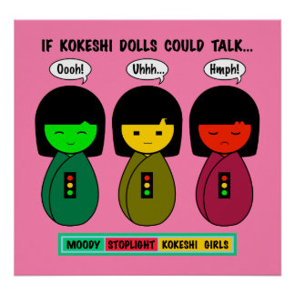 Wenn Kokeshi Puppen sprechen konnten Poster