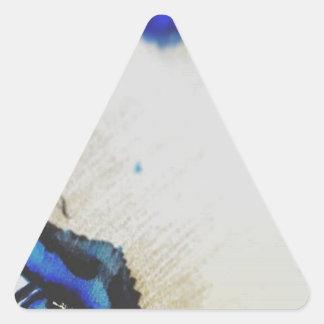 Wenn Kunst Erfindung ein Raumschiff der Absicht Dreieckiger Aufkleber
