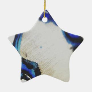 Wenn Kunst Erfindung ein Raumschiff der Absicht Keramik Stern-Ornament