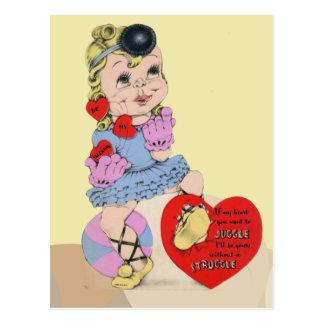 Wenn mein Herz, das Sie wollen, um zu jonglieren Postkarte