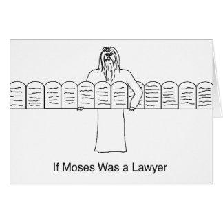 Wenn Moses ein Rechtsanwalt war Karte