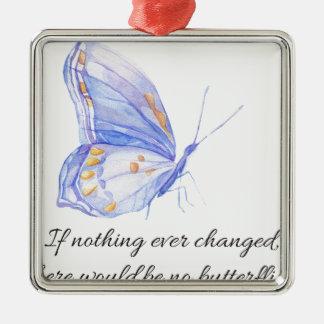 Wenn nichts überhaupt änderte silbernes ornament