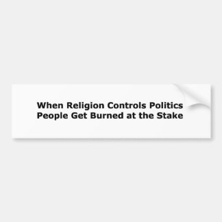 Wenn Religions-Kontrollen-Politik… Autoaufkleber