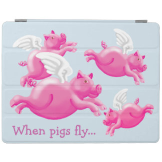 Wenn Schweine… winged rosa Mastschweine fliegen iPad Hülle