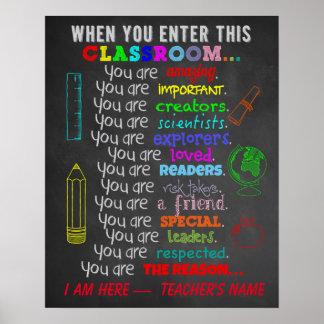 Wenn Sie dieses Klassenzimmer-Regeln eintragen Poster