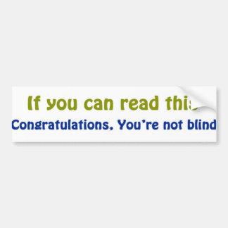 Wenn Sie dieses lesen können Autoaufkleber