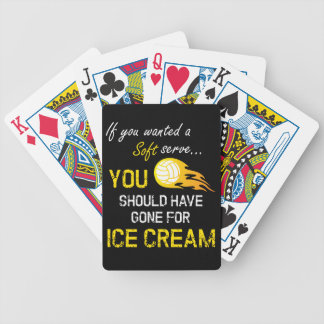 Wenn Sie ein weiches wollten, dienen Sie Eiscreme Bicycle Spielkarten