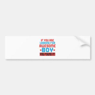 Wenn Sie fantastischen Jungen suchen, fanden Sie Autoaufkleber