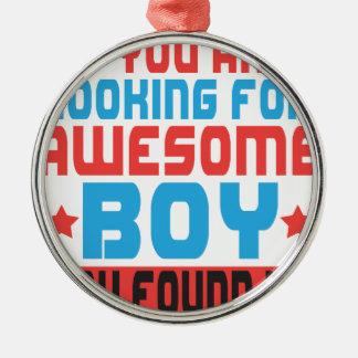 Wenn Sie fantastischen Jungen suchen, fanden Sie Rundes Silberfarbenes Ornament