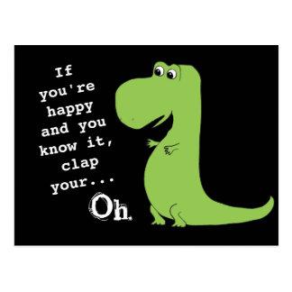 Wenn Sie glücklich sind, klatschen Sie Postkarte