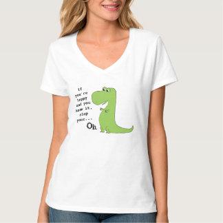 Wenn Sie glücklich sind, klatschen Sie TRex T Shirt
