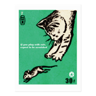 """""""Wenn Sie mit Katzen spielen, erwarten Sie Postkarte"""