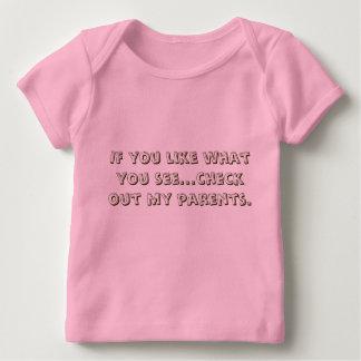 Wenn Sie mögen, was Sie… Karo heraus meine Eltern Baby T-Shirt