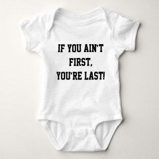 Wenn Sie nicht erste sind, sind Sie dauern Baby Strampler
