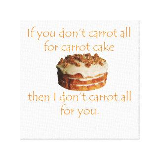Wenn Sie nicht Karotte überhaupt für Leinwanddruck