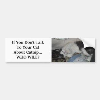 Wenn Sie nicht mit Ihrem KatzeAbo… sprechen Autoaufkleber