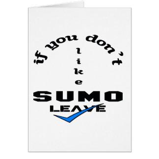 Wenn Sie nicht Sumo mögen, verlassen Sie Karte