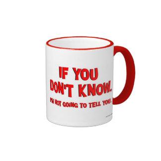 Wenn Sie nicht wissen Ringer Tasse