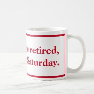 Wenn Sie pensionierte rote und weiße Tasse sind