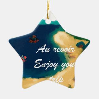 Wenn Sie reisen, finden Sie eine andere Welt Keramik Stern-Ornament