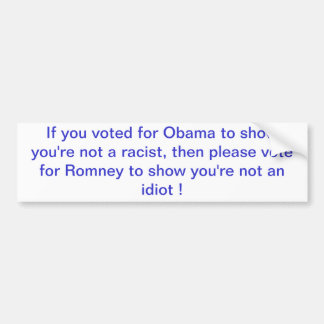 Wenn Sie wählten, damit Obama darstellt, sind Sie Autoaufkleber