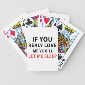 Wenn Sie wirklich Liebe ich Sie mich schlafen Bicycle Spielkarten