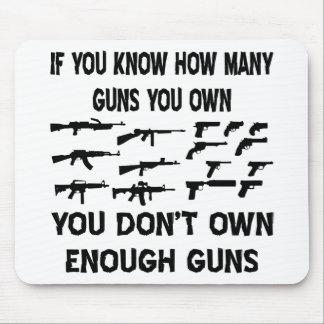 Wenn Sie wissen, wieviele Gewehre Sie besitzen Mousepads
