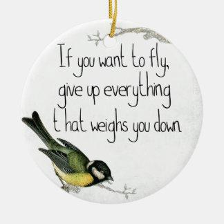 Wenn Sie wollen, um zu fliegen, geben Sie auf, was Keramik Ornament