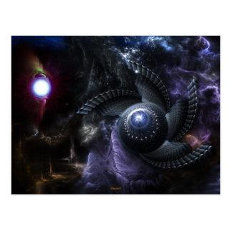Wenn Universum Fraktal-Kunst-Postkarte Postkarte