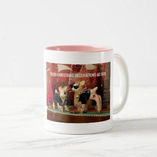 Wenn Weihnachtsdekorationen kundengerechte Tasse