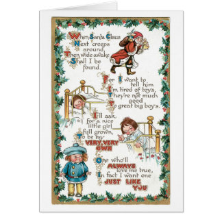 Wenn Weihnachtsmann als Nächstes um… kriecht Karte