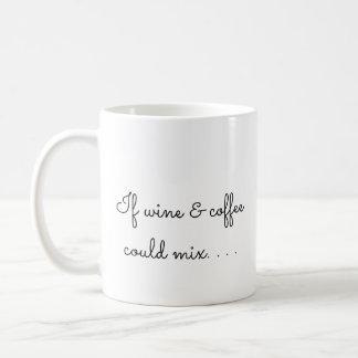 Wenn Wein und Kaffee mischen konnten Kaffeetasse