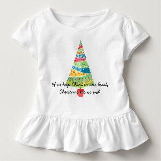 Wenn wir Christus in unserem Herzen behalten, hat Kleinkind T-shirt