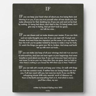 WENN Zitat durch Rudyard Kipling Fotoplatte
