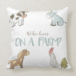 Wer auf einem Bauernhof-Kissen lebt Kissen