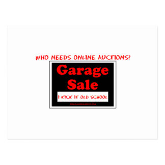 Wer benötigt on-line-Auktionen? Postkarte